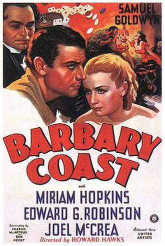 Barbary Coast (film) - 1935 Theatrical Poster