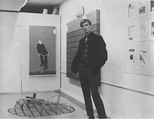 "Bas Jan Ader at his MFA exhibition ""Implosion"" Claremont, CA 1967.jpg"