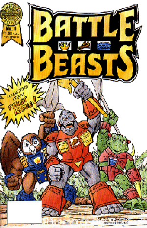 Battle Beasts - Image: Battle Beasts Blackthorne Comics cover
