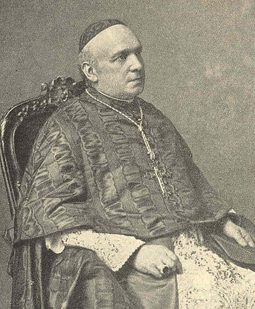 Under Pope Benedict XV Cardinals Domenico Ferrata (above) and Rafael Merry del Val in 1914 switched positions in the Vatican BenedictXVferrata1914.jpg