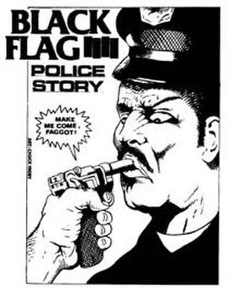 Black Flag (band) - Image: Black Flag Police Story sticker