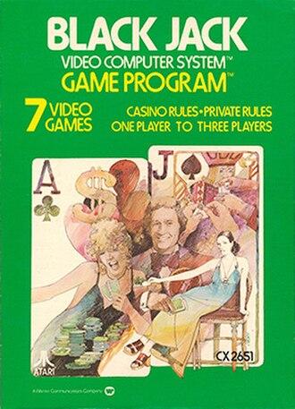 Blackjack (Atari 2600) - Image: Blackjack Atari 2600 Cover