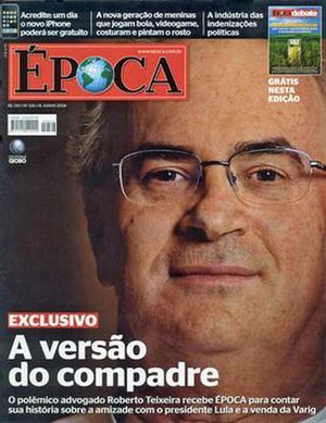 Época (Brazilian magazine) - The 16 June 2008 cover of  Época magazine