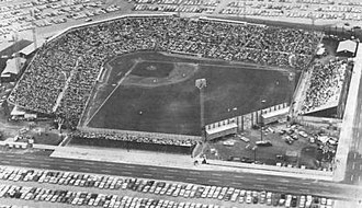 Colt Stadium - The stadium in 1962, from the east