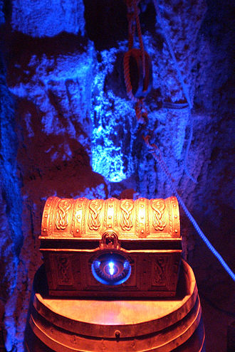 Pirate's Lair on Tom Sawyer Island - The Dead Man's Chest in Dead Man's Grotto, part of Pirate's Lair on Tom Sawyer Island