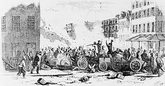 Five Points, Manhattan - The 1857 Dead Rabbits Riot on Bayard Street, in the Five Points