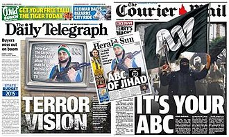 Q&A (Australian talk show) - Front pages of tabloids referring to the incident