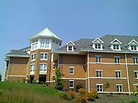 Newly completed Residence Hall C serves as an example of the many new buildings on campus.