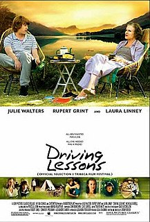 <i>Driving Lessons</i> 2006 film by Jeremy Brock