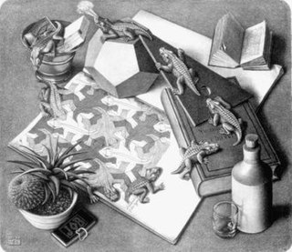 <i>Reptiles</i> (M. C. Escher) lithograph print by M. C. Escher