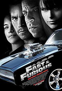 Fast and Furious movie poster, via Wikipedia