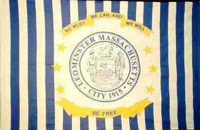 Flag of Leominster, Massachusetts