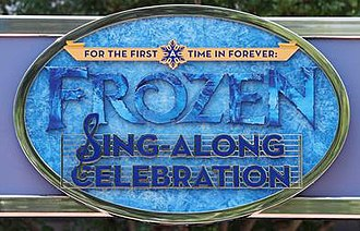 For the First Time in Forever: A Frozen Sing-Along Celebration - Image: For the First Time in Forever A Frozen Sing Along Celebration Logo