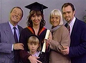 Beale family - The Fowlers—Pauline, Arthur, Michelle, Mark (recast), and Vicki—at Michelle's graduation in 1994