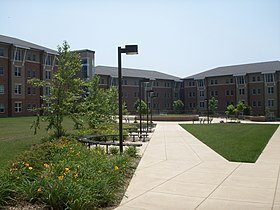 Liberty Square, an upperclassmen residence area which opened in 2003