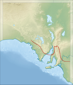Goyder's Line - Approximation of Goyder's Line within South Australia