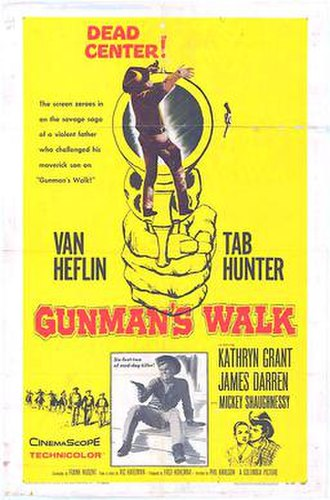 Gunman's Walk - 1958 theatrical poster