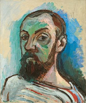 Self-Portrait in a Striped T-shirt - Image: Henri Matisse Self Portrait in a Striped T shirt (1906)