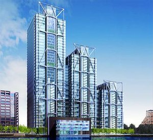 Heron Quays West - The previous (2007) approved design for Heron Quays West.
