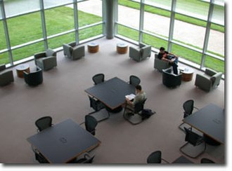 Bryant University - Overlooking the study area inside of Bello