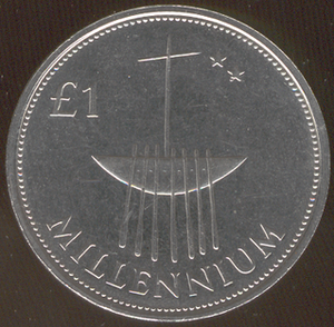 One pound (Irish coin) - Broighter Boat