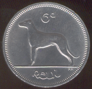 Sixpence (Irish coin) - Image: Irish sixpence coin