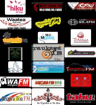 Te Whakaruruhau o Nga Reo Irirangi Māori - Iwi Radio Network Logos 2015