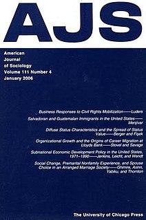 <i>American Journal of Sociology</i> Academic journal