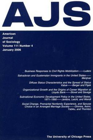 American Journal of Sociology - Image: Jan 2006AJSCover