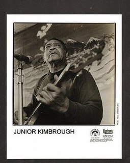 Junior Kimbrough American blues musician