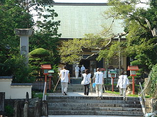 Shingon temple in Minamiuwa District, Ehime Prefecture, Japan, which is Temple 40 on the Shikoku 88 temple pilgrimage