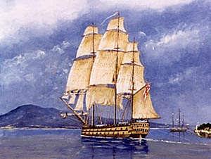 HMS Calcutta (1795) - Image: Kearley Calcutta