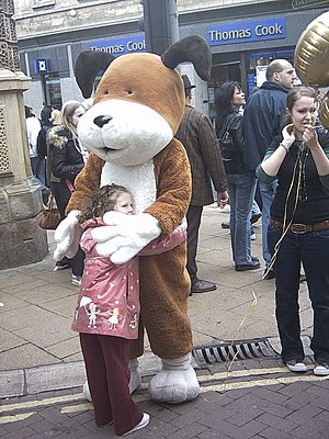 Kipper the Dog - Kipper on a street in York, England, on 4 May 2006