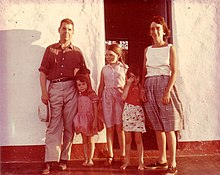 Lisa Peattie and family at home in Venezuela, @1963, Boston, MA