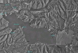 Lake Lemon - Lake Lemon aerial view