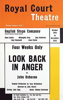 <i>Look Back in Anger</i> 1956 play by John Osborne