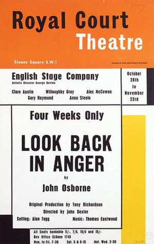 Look Back in Anger - Programme from the 1957 production