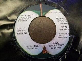 Mamunia 1974 single by Wings