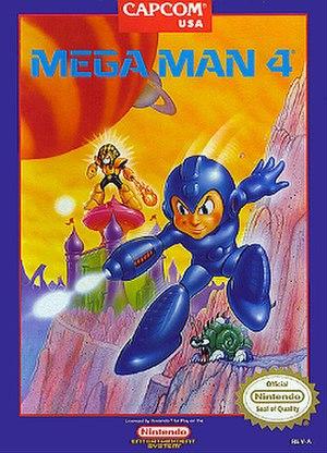 Mega Man 4 - North American version cover art