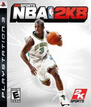 NBA 2K8 - PlayStation 3 cover art featuring Chris Paul