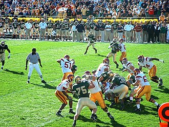 2005 USC vs. Notre Dame football game - The two teams during the game