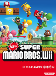 <i>New Super Mario Bros. Wii</i> 2009 platform video game published by Nintendo