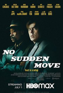 <i>No Sudden Move</i> 2021 crime thriller film directed by Steven Soderbergh