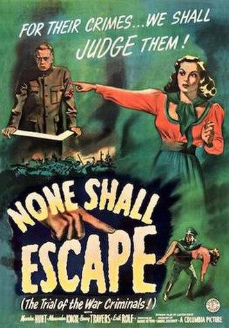 None Shall Escape - Original US 1944 poster