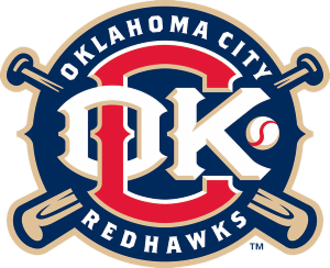 Oklahoma City Dodgers - Oklahoma City RedHawks logo from 2009 to 2014
