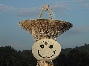 Pisgah Astronomical Research Institute - Image: PARI 26 west and Smiley radio telescopes