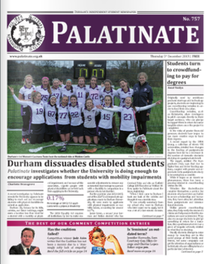 Palatinate (newspaper) - Image: Palatinate Issue 757 5 Dec 2013
