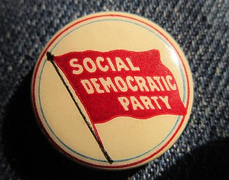 Social Democratic Party of America - Image: Pinback of the Social Democratic Party of America