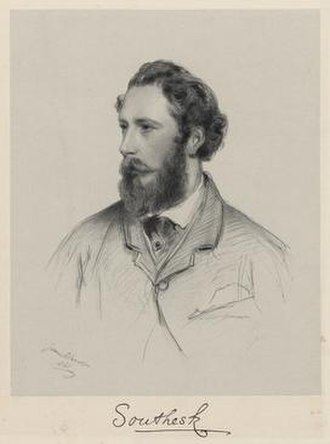 James Carnegie, 9th Earl of Southesk - James Carnegie, 9th Earl of Southesk. by Richard James Lane. lithograph, 1861 © National Portrait Gallery, London