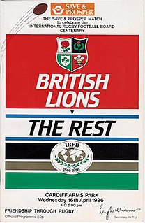 British Lions v The Rest Football match